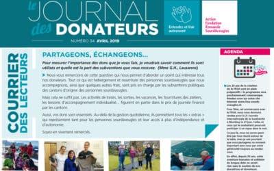 Le journal des donateurs n°34 d'avril