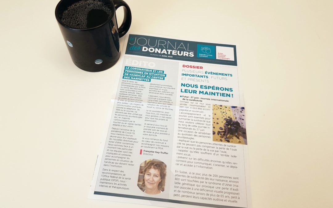 Le journal des donateurs n°36 avril 2020